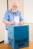 Election - Senior Man Casting Ballot — Stock Photo