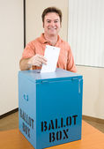 Election - White Male Voter — Stock Photo