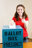 Election - Young Voter Thumbsup — Stock Photo