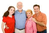 Extended Family Over White — Stock Photo
