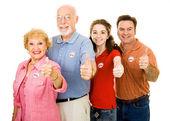 Family of Voters - Thumbsup — Stock Photo