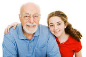 Girl and Her Grandpa — Stock Photo