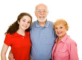Teen with Grandparents — Stock Photo