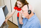 Voting for Vision Impaired — Stock Photo