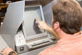 Voting on Touch Screen — Stock Photo