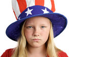 American Girl Angry — Stock Photo