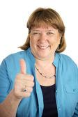Happy Woman Thumbsup — Stock Photo