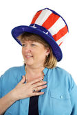 Patriotic Military Wife — Stock Photo