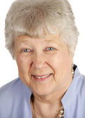Pretty Senior Lady Closeup — Stock Photo