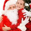 Big Hug for Santa — Stock Photo