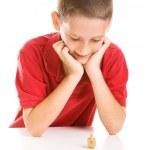 Boy Playing Dreidel — Stock Photo