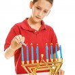 Stock Photo: Lighting Menorah