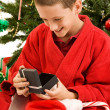 Opening Gifts on Christmas — Stock Photo