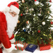 Santa Under the Tree — Stock Photo