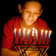 The Menorah&#039;s Glow - Stock Photo