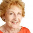 Red Haired Senior Closeup — Stock Photo