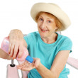 Summer Senior - Sunscreen — Stock Photo