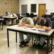 Adult Ed - Asleep in Class — Stock Photo