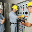 Stock Photo: Electrical Team at Work