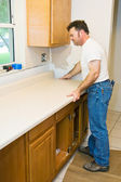 Contractor Remodeling Kitchen — Stock Photo