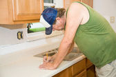 Contractor Taking Notes — Stock Photo