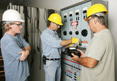 Electrical Team at Work — Stock Photo
