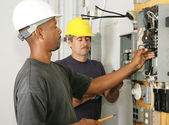 Electrician Diversity — Stock Photo