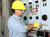 Electrician High Voltage — Stock Photo