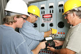 Electricians on High Voltage — Stock Photo