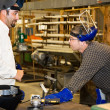 Stock Photo: Metal Worker and Supervisor