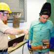 Supervisor on Factory Floor — Stock Photo