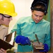 Welder and Supervisor — Foto Stock