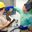 Welder with Supervisor — Stock Photo