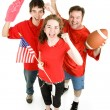 Crazed Football Fans — Stock Photo