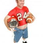 High School Football Star at 40 — Stock Photo
