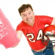 Middle Aged Footbal Fan — Stock Photo