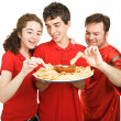 Partiers Snacking — Stock Photo