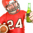 Sports Fan - Have a Cold One — Stock Photo