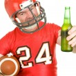 Sports Fan - Have a Cold One - Stock Photo