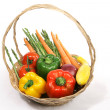 Basket of Vegetables — Stock fotografie