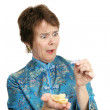 Fortune Cookie - Shocked — Stock Photo