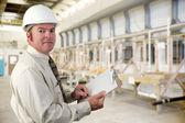 Průmyslové inspektor — Stock fotografie