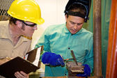 Welder and Supervisor — Stock Photo