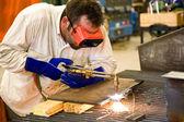 Worker in Metal Factory — Stock Photo