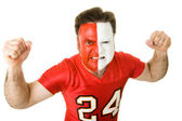 Angry Sports Fanatic — Stock Photo