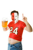 Sports Fan with Beer Belly — Stock Photo