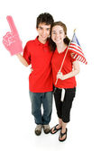 Teen Couple - Loyal Supporters — Stock Photo