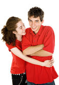 Teen Couple - Tickle Fight — Stock Photo