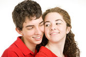 Teen Couple Flirting — Stock Photo
