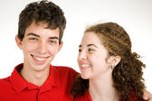 Teen Couple Joking Around — Stock Photo